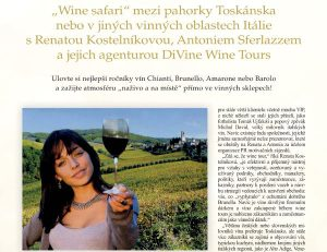 March 2019, very nice article about us on Wine&Degustation, the most important Czech wine magazine